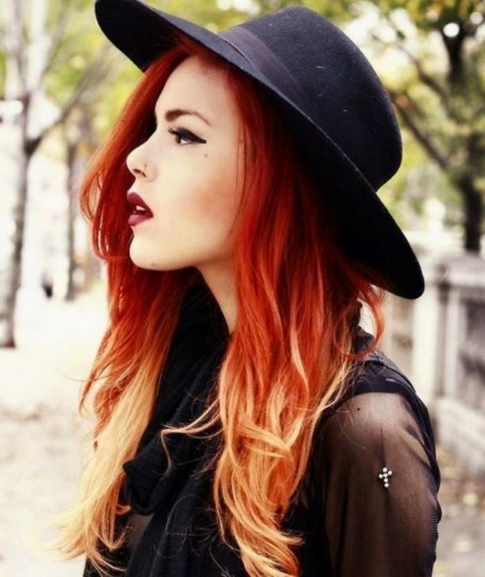 beauté-couleur-de-cheveux-rouge-ombre