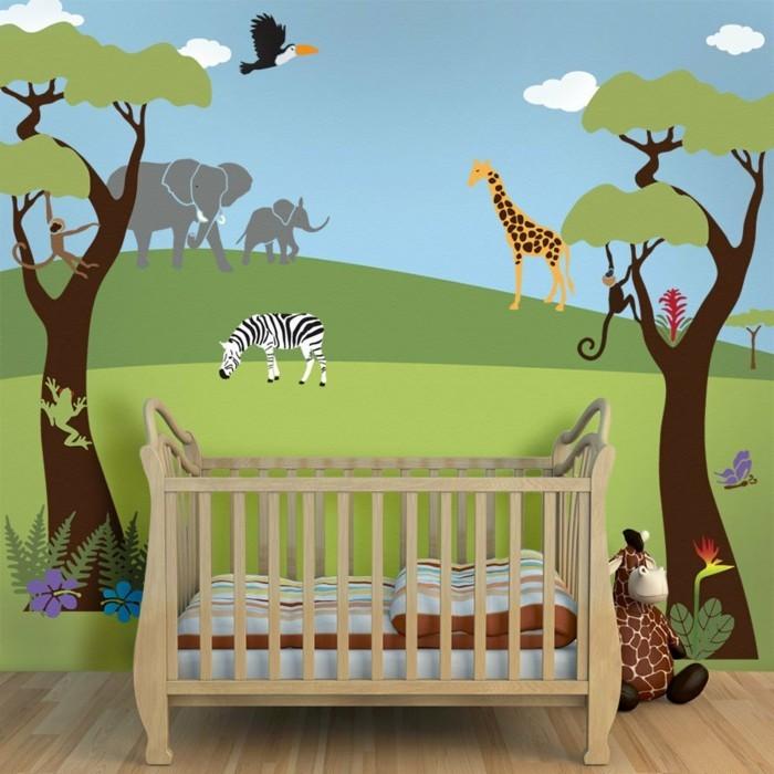 belle-déco-murale-pour-une-chambre-de-bébé