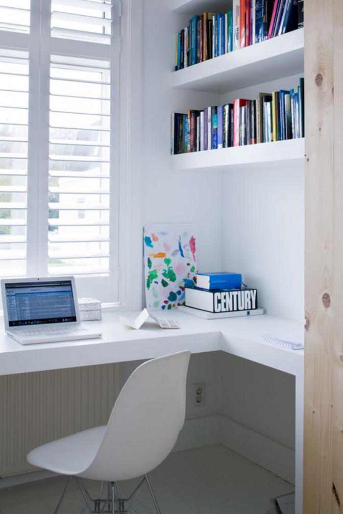 bureau-design-bureau-flottant-blanc-bureau-d'angle-élégant