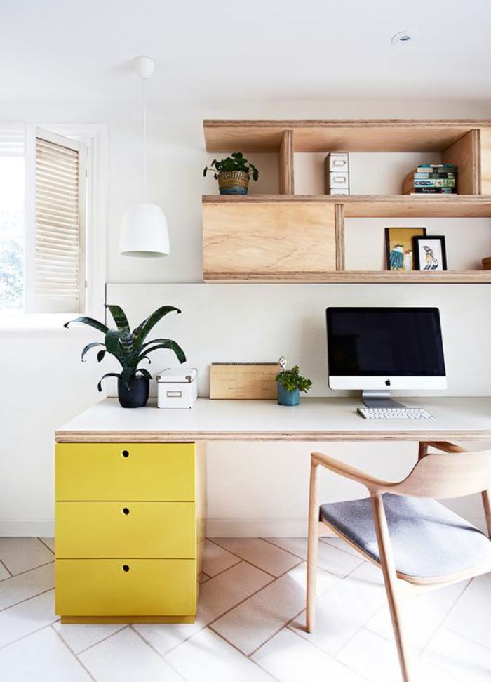 Quel bureau design voyez nos belles id es et choisissez for Meuble bureau jaune