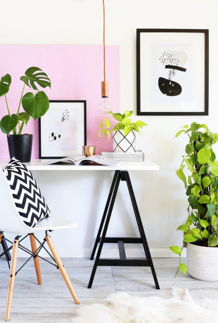 bureau-design-contemporain-déco-plantes-vertes