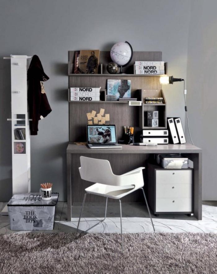 Quel bureau design voyez nos belles id es et choisissez for Petit bureau gris