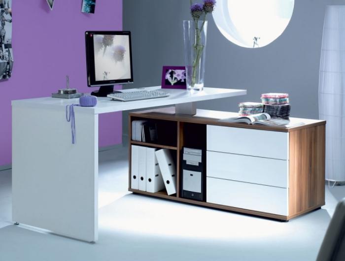 Grand bureau avec rangement armoire de bureau bois eyebuy