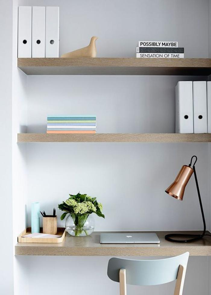bureau-design-office-à-la-maison-bureau-mimaliste-en-bois