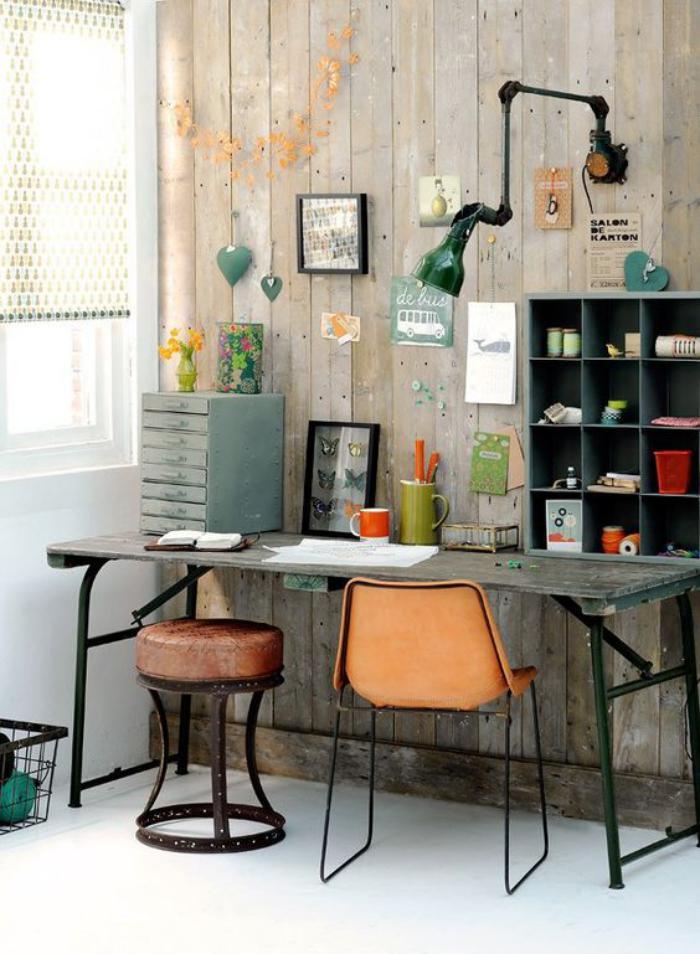 bureau-design-petit-office-à-la-maison-style-industriel