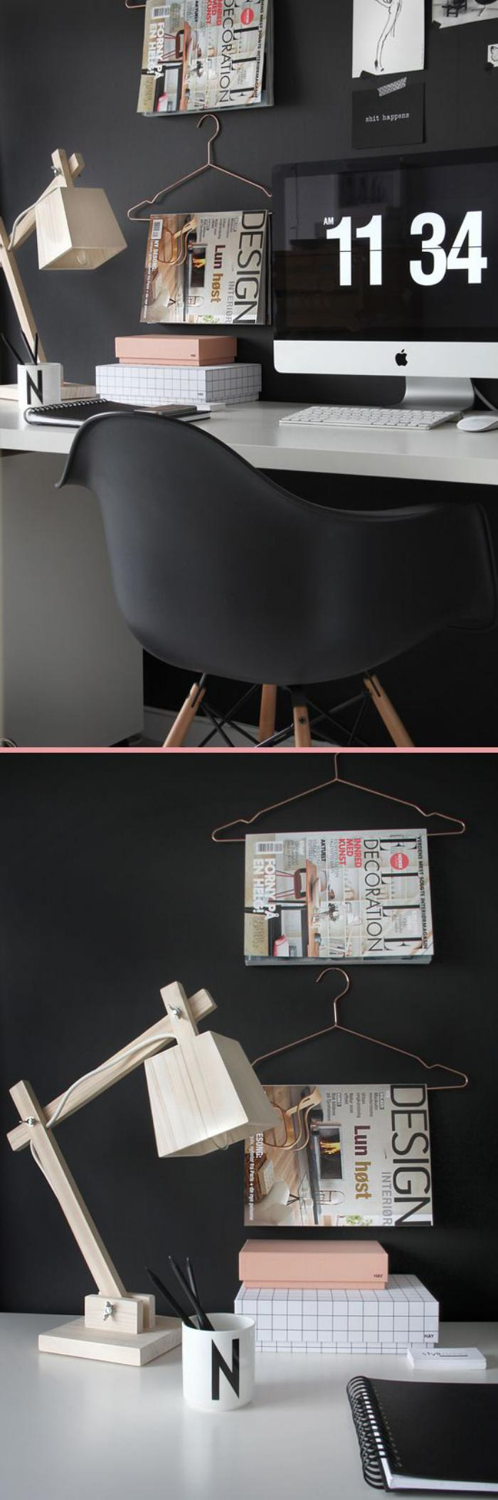 bureau-design-suspendu-en-blanc-collé-au-mur-noir