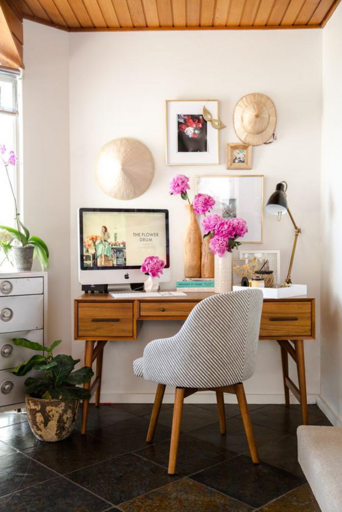 bureau-design-vintage-bureau-en-bois-petit-office-à-la-maison