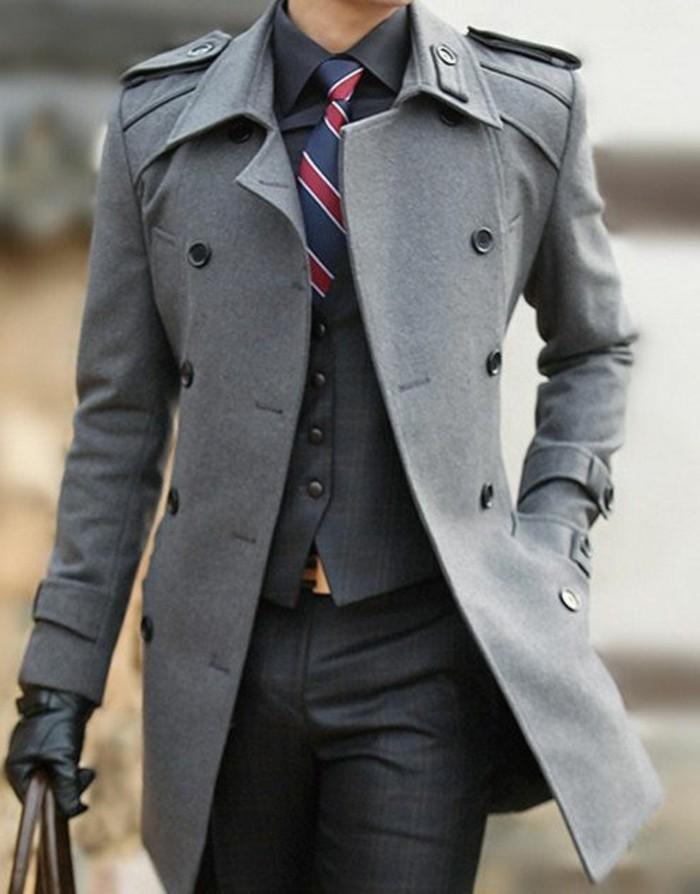 Veste Homme Fashion Gris Tenue