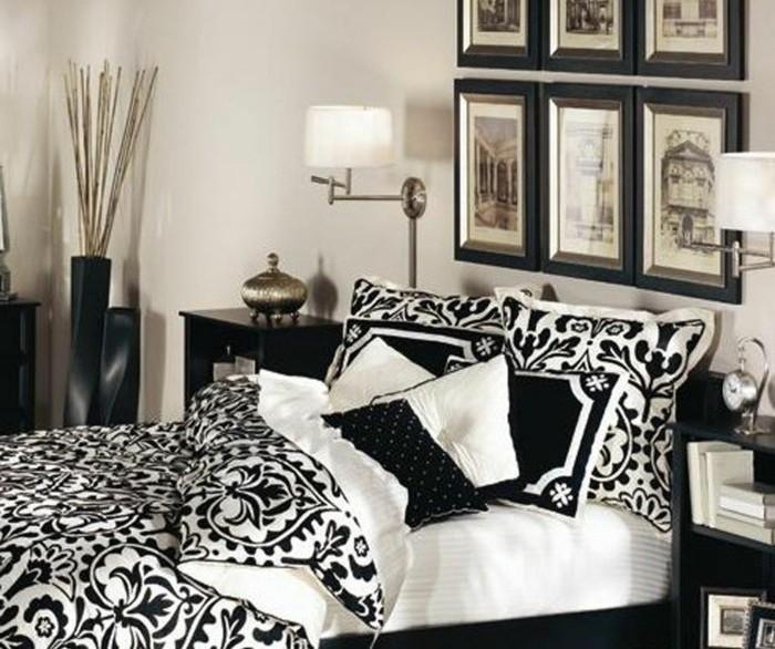 chambre-vintage-noir-et-blanc-photos-noir-et- blanc-idée-déco-vintage-originale