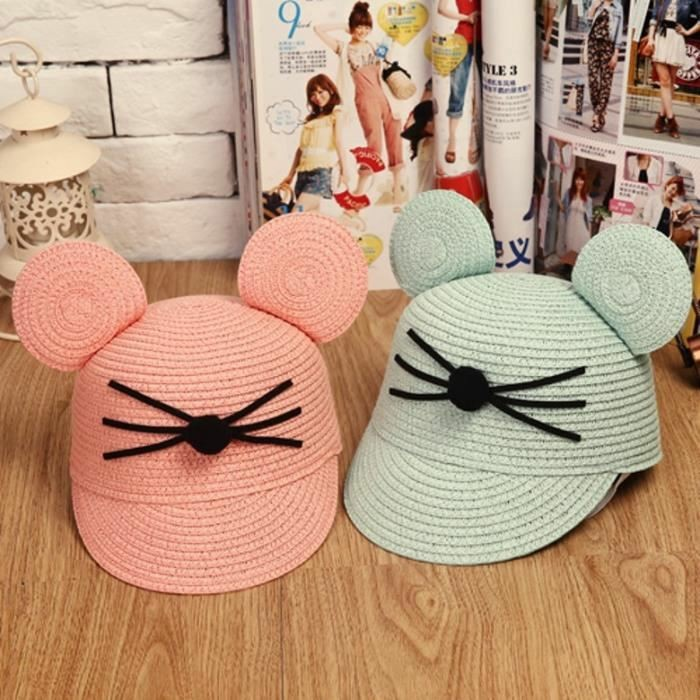 chapeau-de-paille-enfant-Mickey-et-Minnie-Mouse-resized
