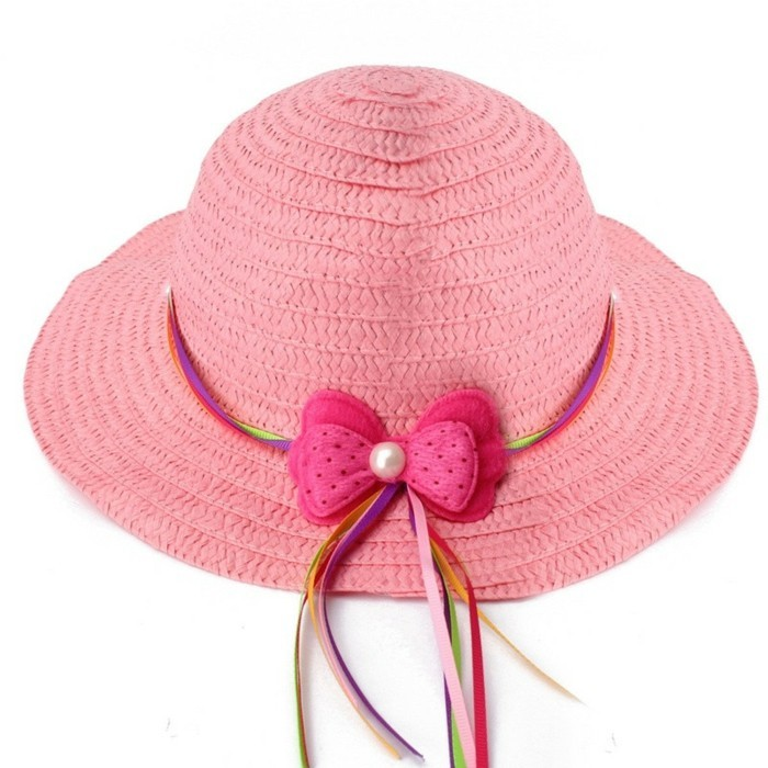chapeau-de-paille-enfant-rose-avec-un-noeud-multicolore-aliexpress-resized