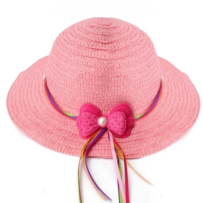 chapeau-de-paille-enfant-rose-avec-un-noeud-multicolore-aliexpress-resized