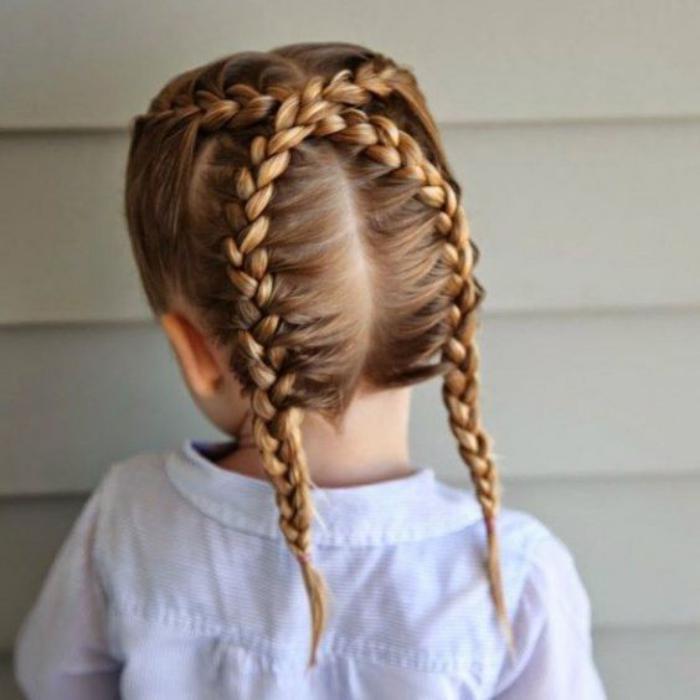 coiffures-pour-enfants-coiffure-petite-fille-tresses-croisées