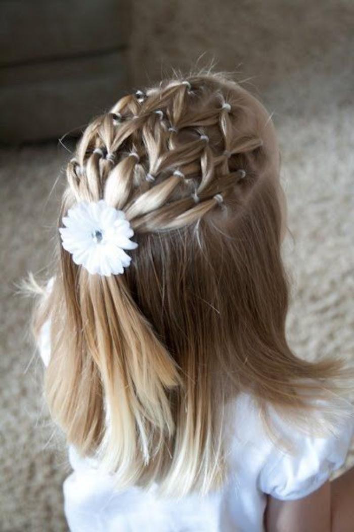 Les coiffures pour enfants tendance en 57 photos - Coiffure bapteme femme ...