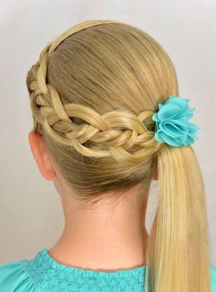 Les coiffures pour enfants tendance en 57 photos - Tresse colle pour petite fille ...