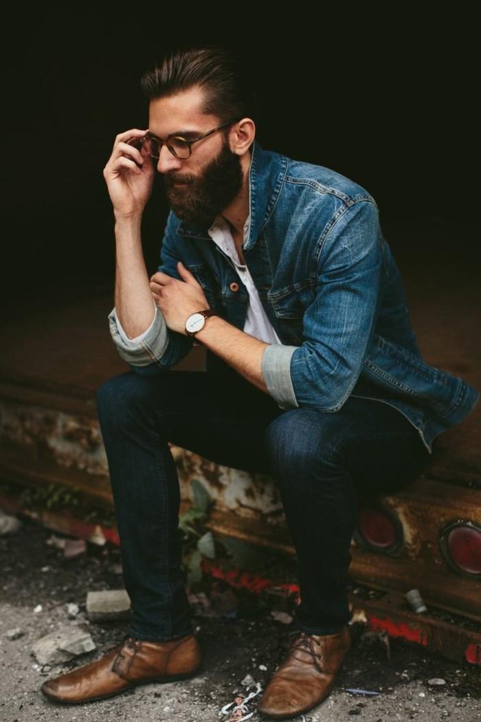 comment-porter-chemise-en-jeans-homme-prendre-idées-des-hipsters