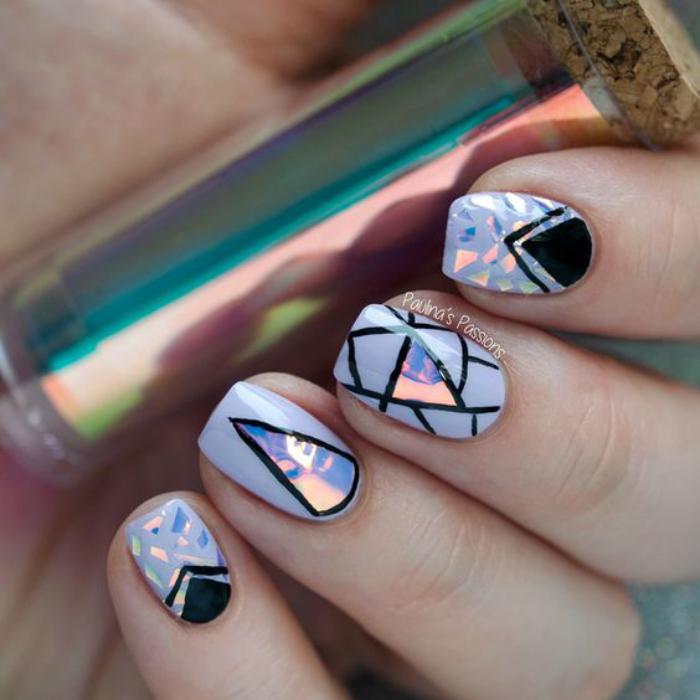 déco,nail,art,broken,glass,nails,technique,verre,