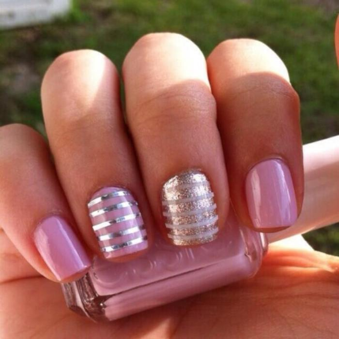 deco ongles rayures