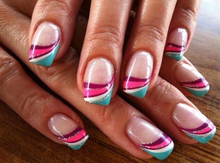 déco-ongles-cinq-couleurs-nail-art-pour-l'été