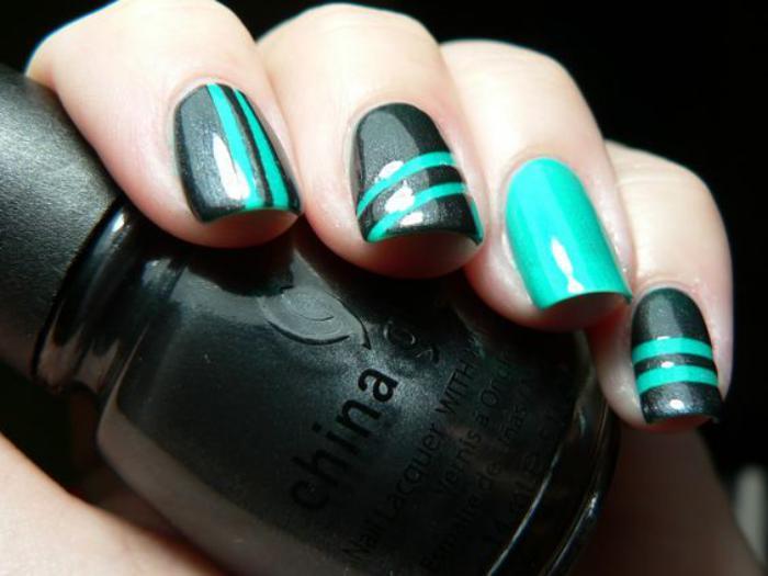 déco-ongles-idée-déco-ongles-striping-tape-manucure-facile