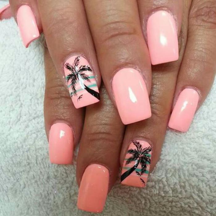 déco-ongles-nail-art-d'été-palmiers
