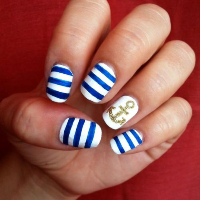 déco-ongles-nail-art-rayures-et-ancre
