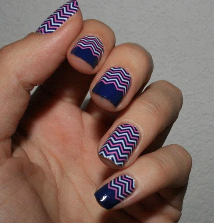 déco-ongles-originale-déco-ongles-motifs-chevrons