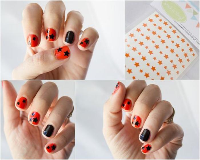 déco-ongles-originale-manucure-stickers-étoiles