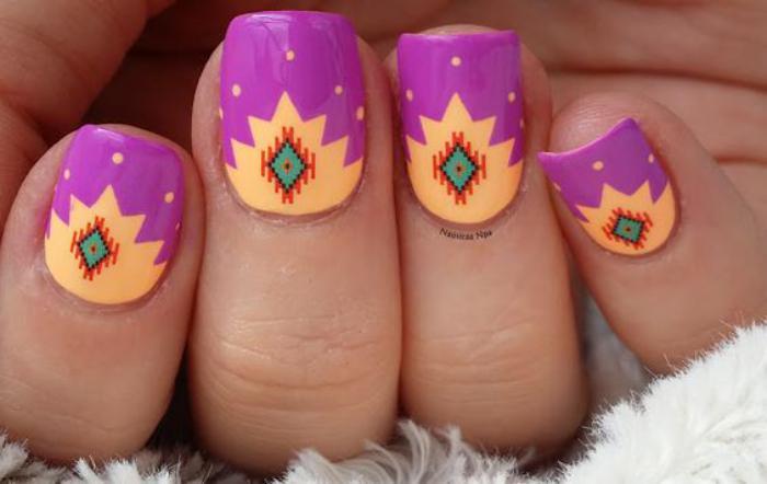 déco-ongles-originale-motifs-aztèques