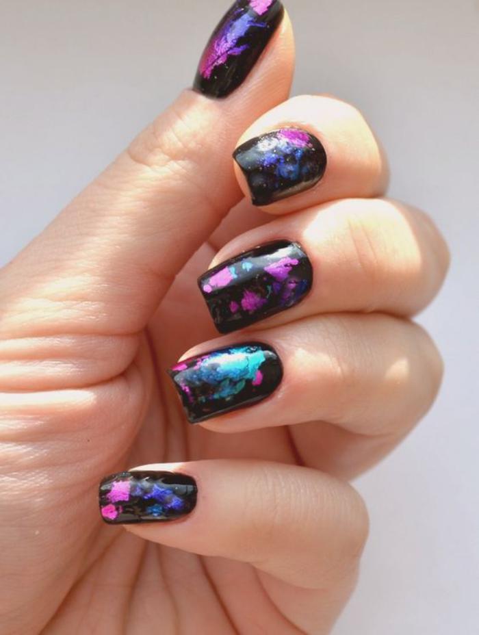 déco-ongles-originale-nail-patch-glitter-métal-stickers
