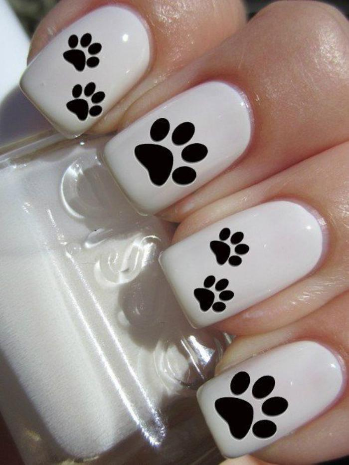 déco-ongles-originale-patte-d'animaux-stickers-autocollants
