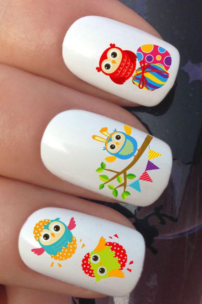 déco-ongles-originale-stickers-amusants-pour-ongles-hiboux