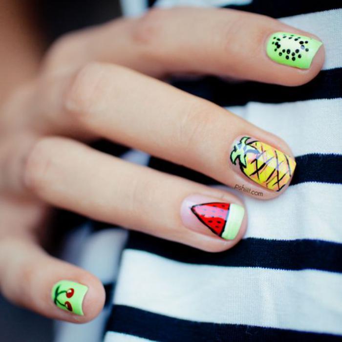 déco-ongles-printemps-été-dessins-de-fruits-sur-les-ongles