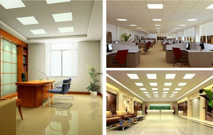 dalle-faux-plafond-office-space-instalation-led-carrelage-beige-idee-bureau-organisation-office-space