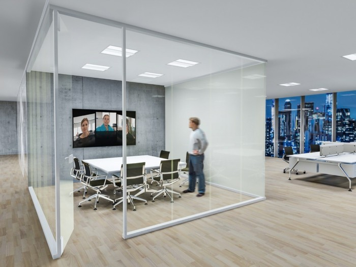 dalles-led-encastre-idees-office-space-sol-en-parquet-clair-multimedia