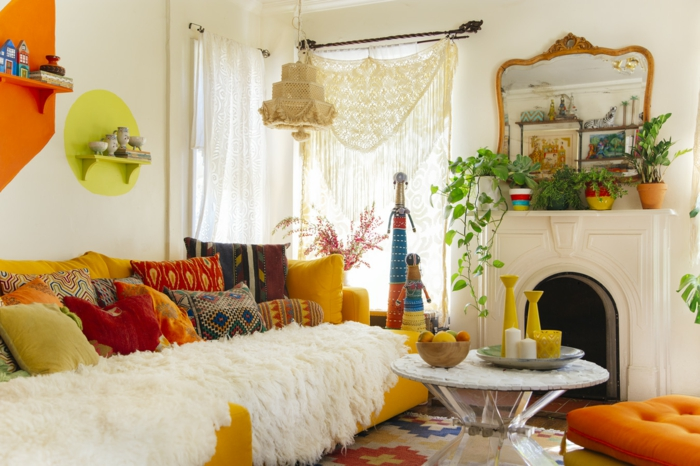 deco-boheme-chic-en-jaune-et-orange-resized