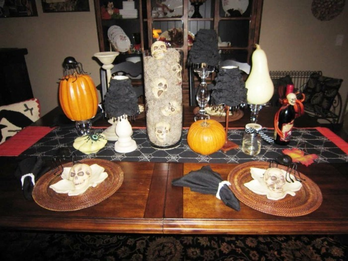 D co table halloween le guide ultime en 86 photos - Decoration de porte halloween ...