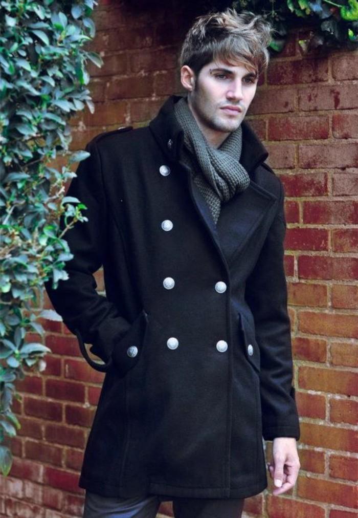60 variants pour porter le manteau pour homme avec du. Black Bedroom Furniture Sets. Home Design Ideas