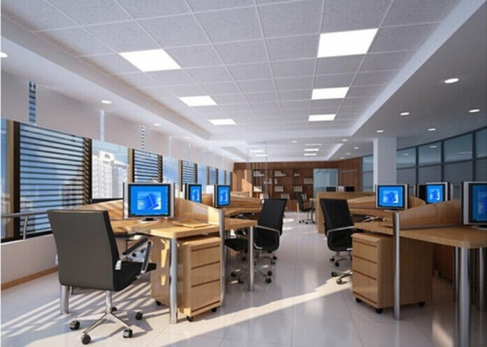 eclairage-led-dalle-faux-plafond-plafonnier-led-pour-office-space-idee-deco-plafond