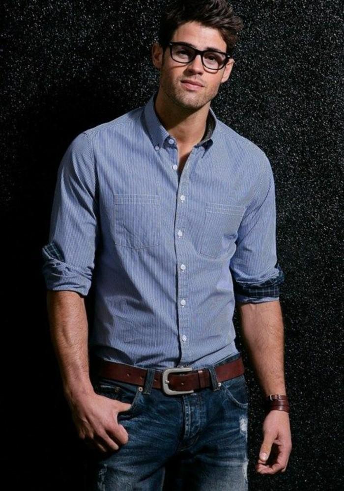 procédés de teinture minutieux meilleur en ligne bonne texture Comment porter chemise en jeans homme? - Archzine.fr