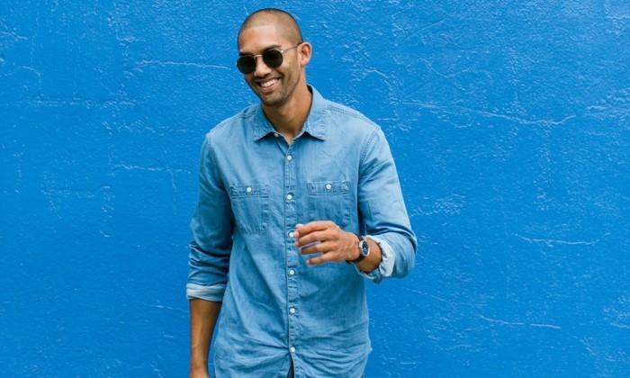 excellent-choix-chemises-hommes-chemise-bucheron-mur-bleu
