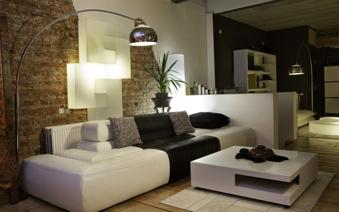 Salon Design Noir Et Blanc. Noir Et Blanc Minimal Pied Table ...