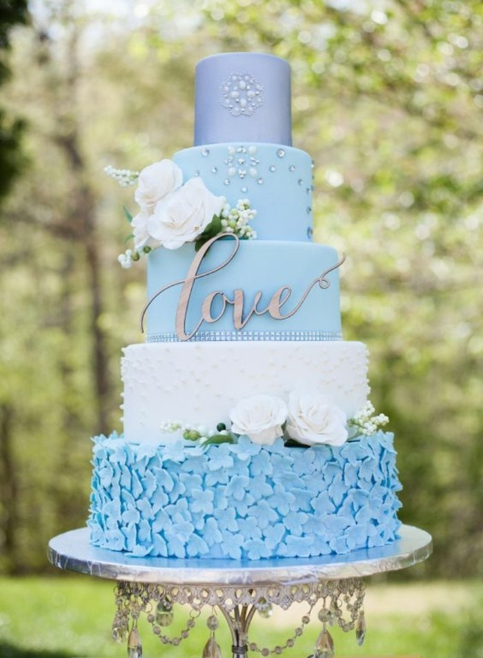 beautiful blue and pink wedding cakes les plus originales pi 232 ces mont 233 es mariage en 65 images 11206