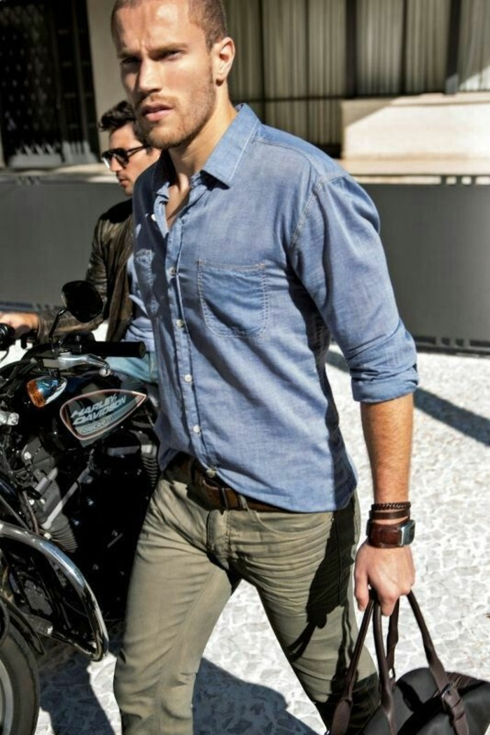 jolie-chemise-a-carreaux-chemise-jean-moderne-cool