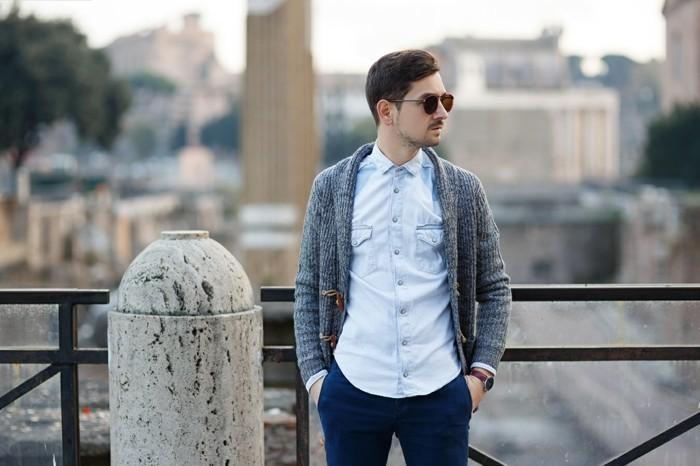 jolie-chemise-a-carreaux-chemise-jean-moderne