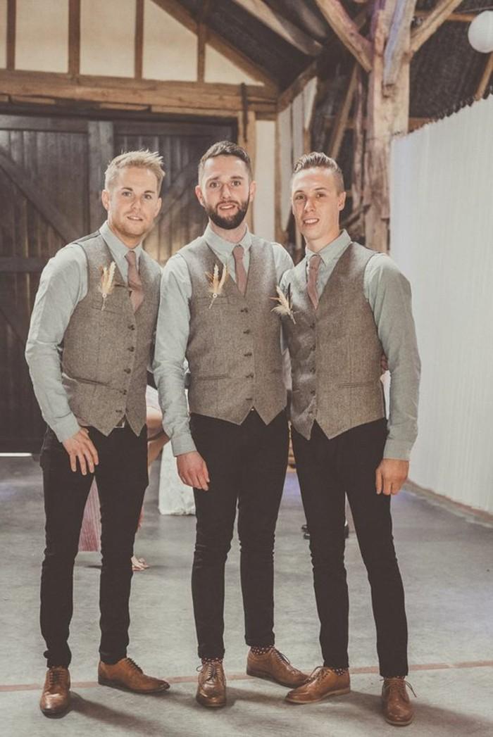 jolie-idée-comment-s-habiller-cravate-mariage-classe-beige