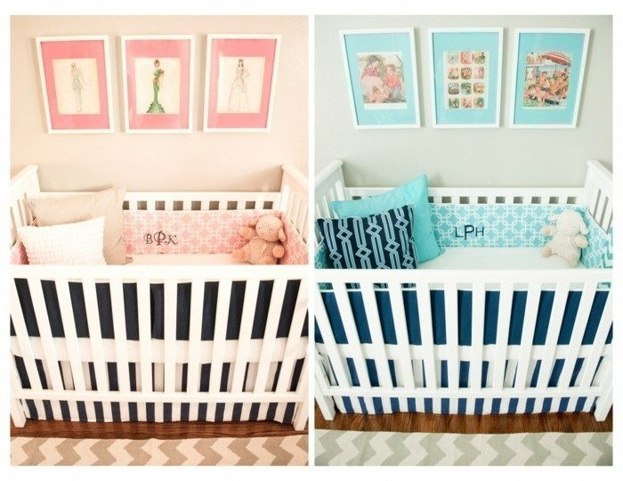 Awesome Idee Chambre Bebe Jumeaux Ideas - Design Trends 2017 ...