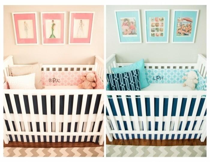 jolie-idée-déco-jumeaux-fille-garçon-lits-à-barreaux-belles-illustrations