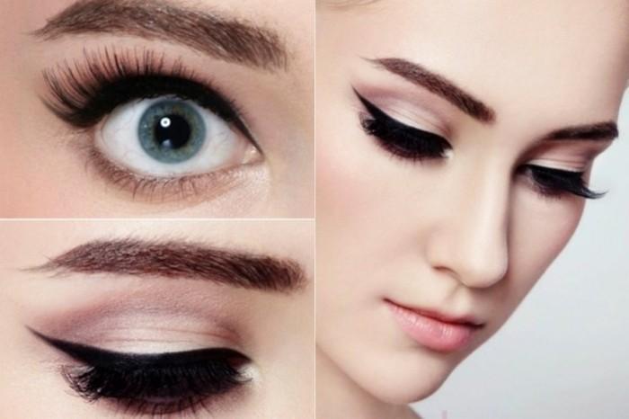 jolies-femmes-maquillage-de-noel-idée-make-up-yeux