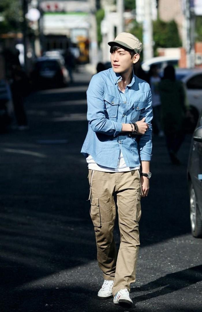 le-style-de-la-rue-magnifique-chemise-rouge-homme-chemise-levis